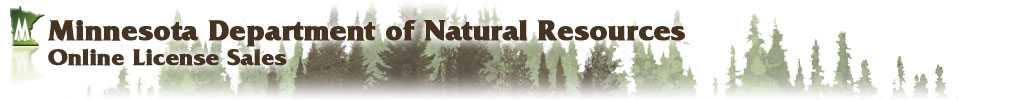 Minnesota Department of Natural Resources Online License Sales